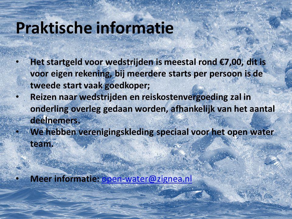 Praktische informatie Het startgeld voor wedstrijden is meestal rond €7,00, dit is voor eigen rekening, bij meerdere starts per persoon is de tweede s