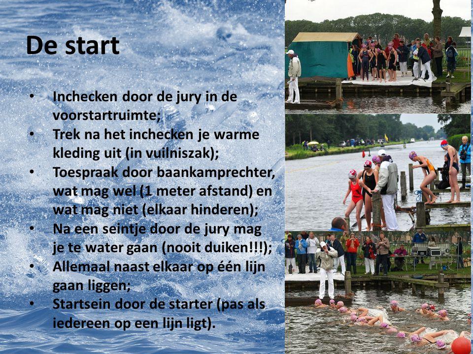 De wedstrijd Verken voor de start het parcours (in het programma of op een bord); Weet bij welke kleur boei je moet keren; Als je voor de eerste keer zwemt: zwem lekker je eigen tempo.