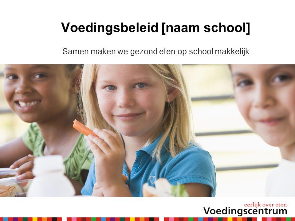 Voedingsbeleid [naam school] Samen maken we gezond eten op school makkelijk