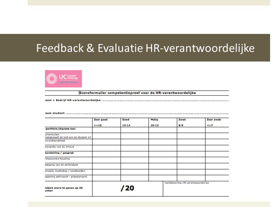 Feedback & Evaluatie HR-verantwoordelijke