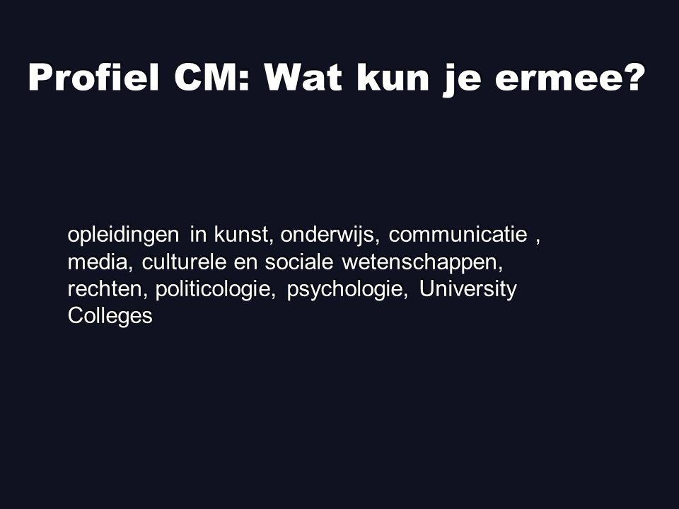 Profiel CM: Wat kun je ermee.