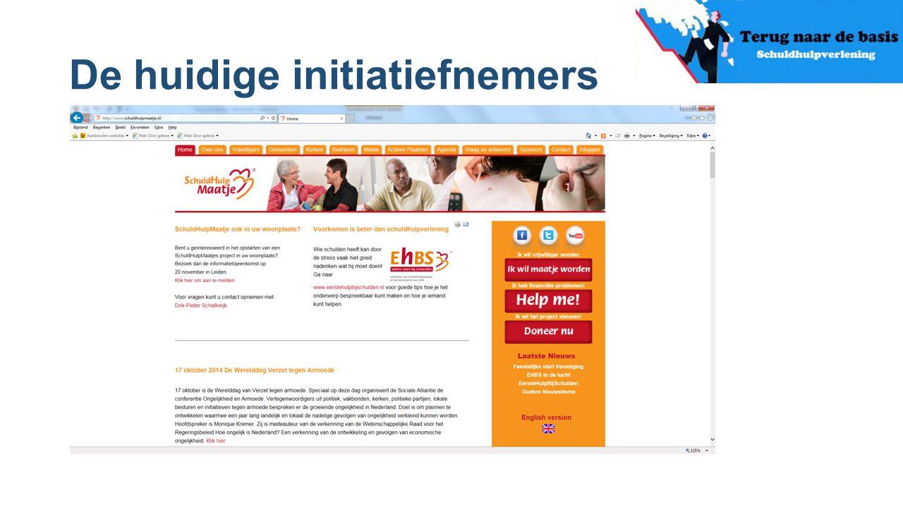De huidige initiatiefnemers