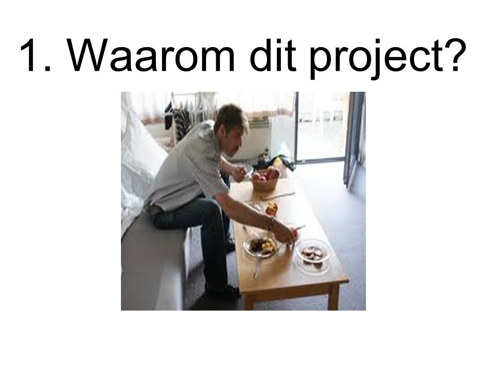 1. Waarom dit project?