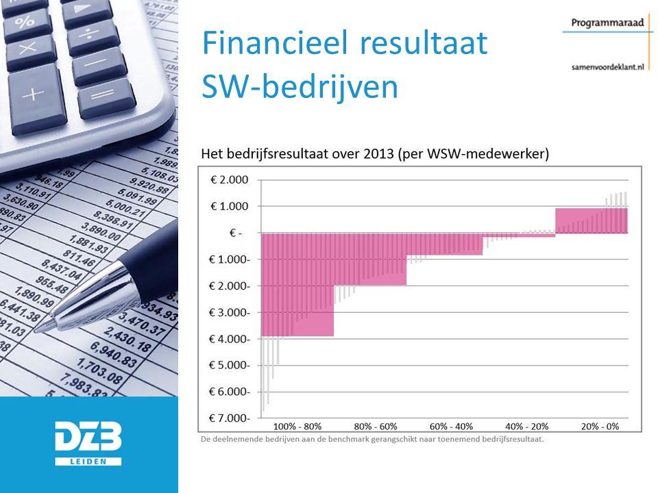 Financieel resultaat SW-bedrijven