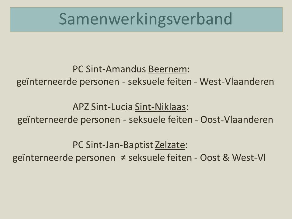 Samenwerkingsverband PC Sint-Amandus Beernem: geïnterneerde personen - seksuele feiten - West-Vlaanderen APZ Sint-Lucia Sint-Niklaas: geïnterneerde pe