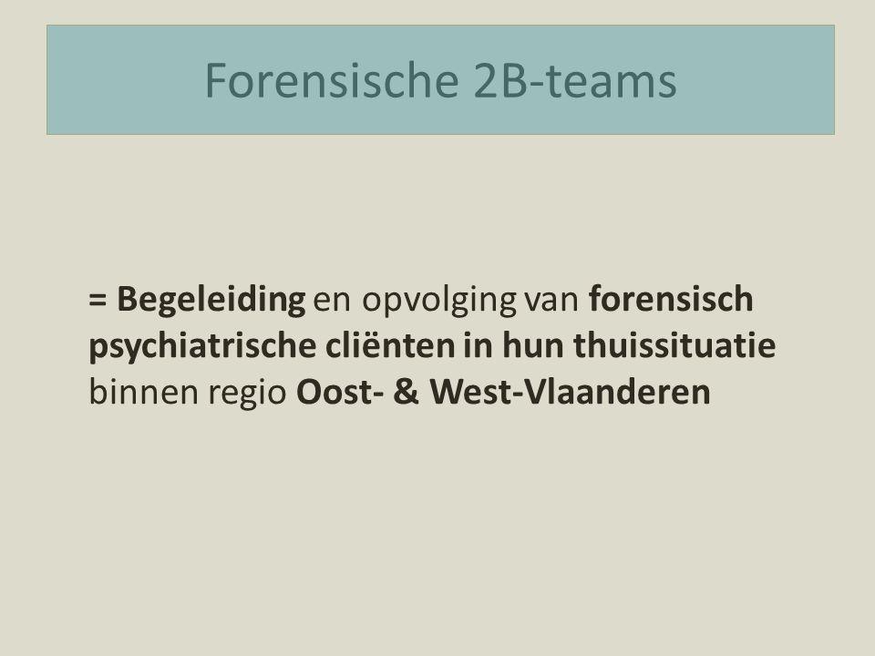 Forensische 2B-teams = Begeleiding en opvolging van forensisch psychiatrische cliënten in hun thuissituatie binnen regio Oost- & West-Vlaanderen