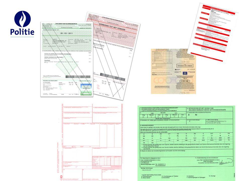 Identiteitskaart Rijbewijs medische schifting Kentekenbewijs Gelijkvormigheidsattest (niet verplicht) keuringsbewijs (6 maanden geldig – ctrl datum afgifte) keuringsvignet verzekering Vereiste documenten: