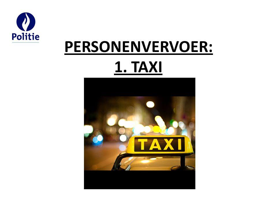PERSONENVERVOER: 1. TAXI