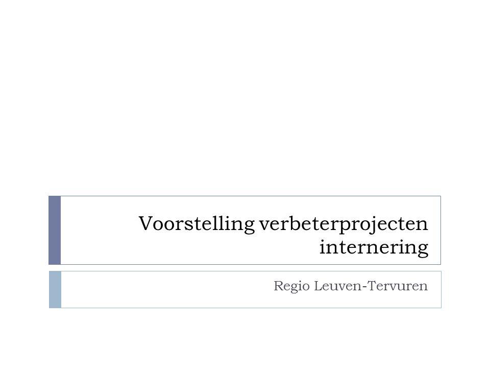Overzicht  Inleiding  Overzicht Vlaams-Brabant en NL Brussel  Voorstelling verbeterprojecten Leuven-Tervuren  UPC Sint-Kamillus Bierbeek: DAP  UPC Sint-Kamillus Bierbeek: DPP  Mobiel Team GGZ Leuven  VZW Walden: Fenix  Contactgegevens