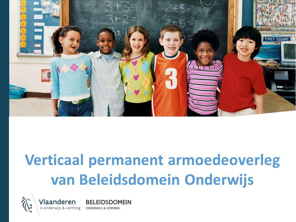 Verticaal permanent armoedeoverleg van Beleidsdomein Onderwijs