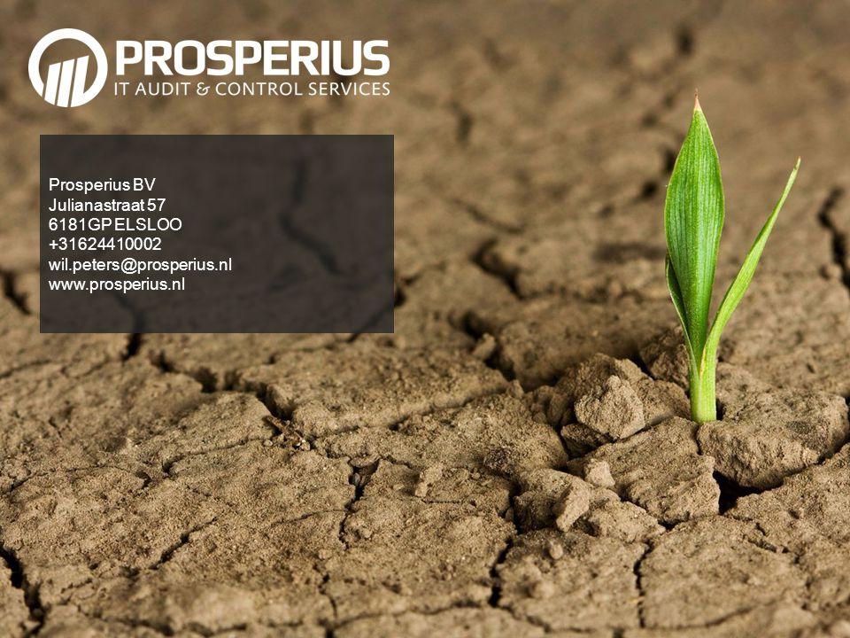 Prosperius BV Julianastraat 57 6181GP ELSLOO +31624410002 wil.peters@prosperius.nl www.prosperius.nl