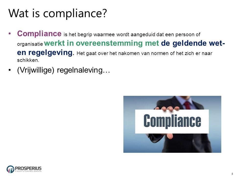 Wat is compliance.