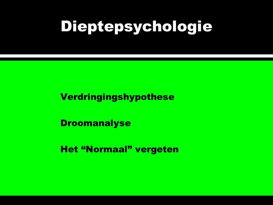 """Dieptepsychologie Verdringingshypothese Droomanalyse Het """"Normaal"""" vergeten"""