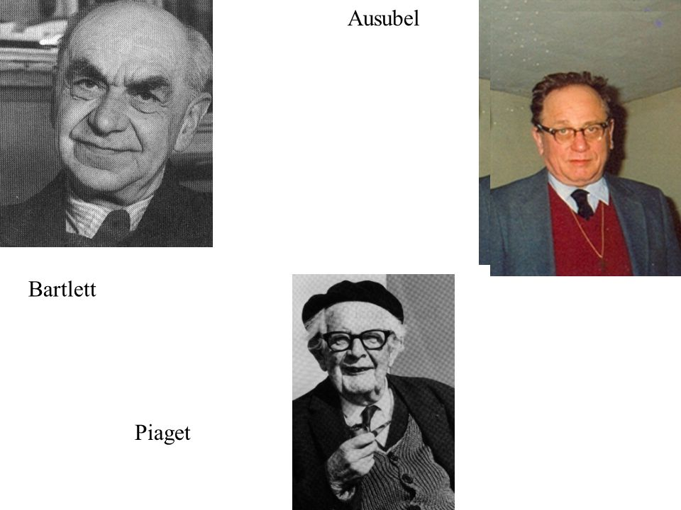 C. Jean Piaget Bartlett Piaget Ausubel