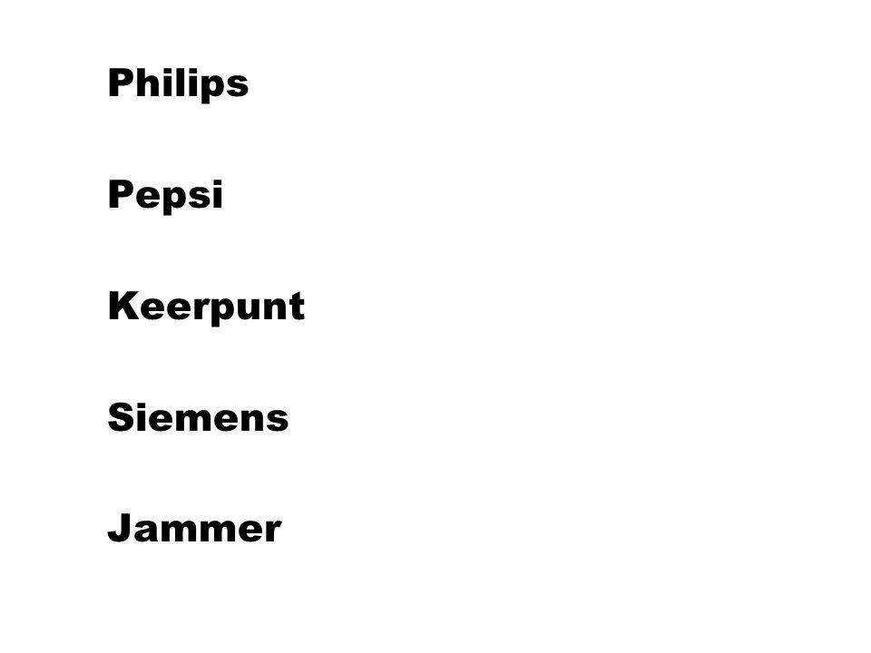 l Philips l Pepsi l Keerpunt l Siemens l Jammer
