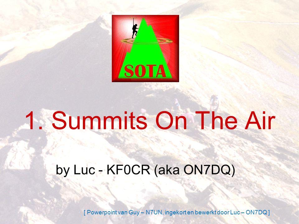 Wat is SOTA .Is een AWARD PROGRAMMA > punten .