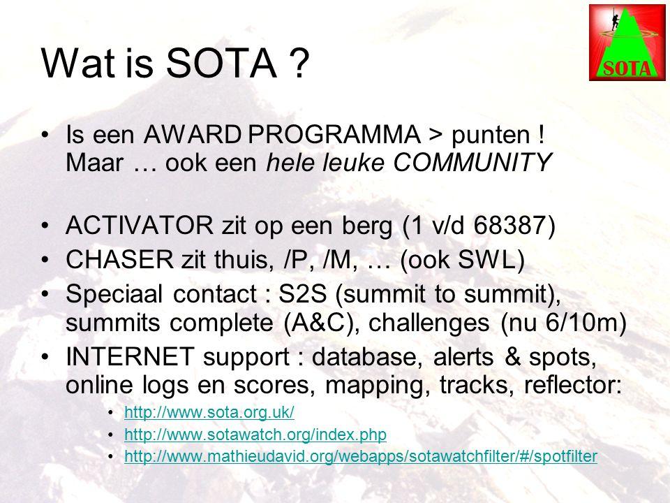 Wat is SOTA . Is een AWARD PROGRAMMA > punten .