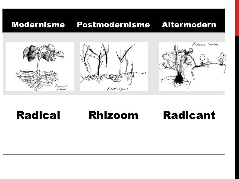 ModernismePostmodernismeAltermodern RadicalRhizoomRadicant