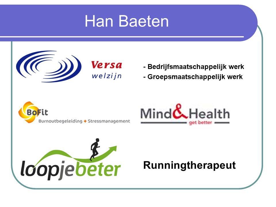 Han Baeten - Bedrijfsmaatschappelijk werk - Groepsmaatschappelijk werk Runningtherapeut