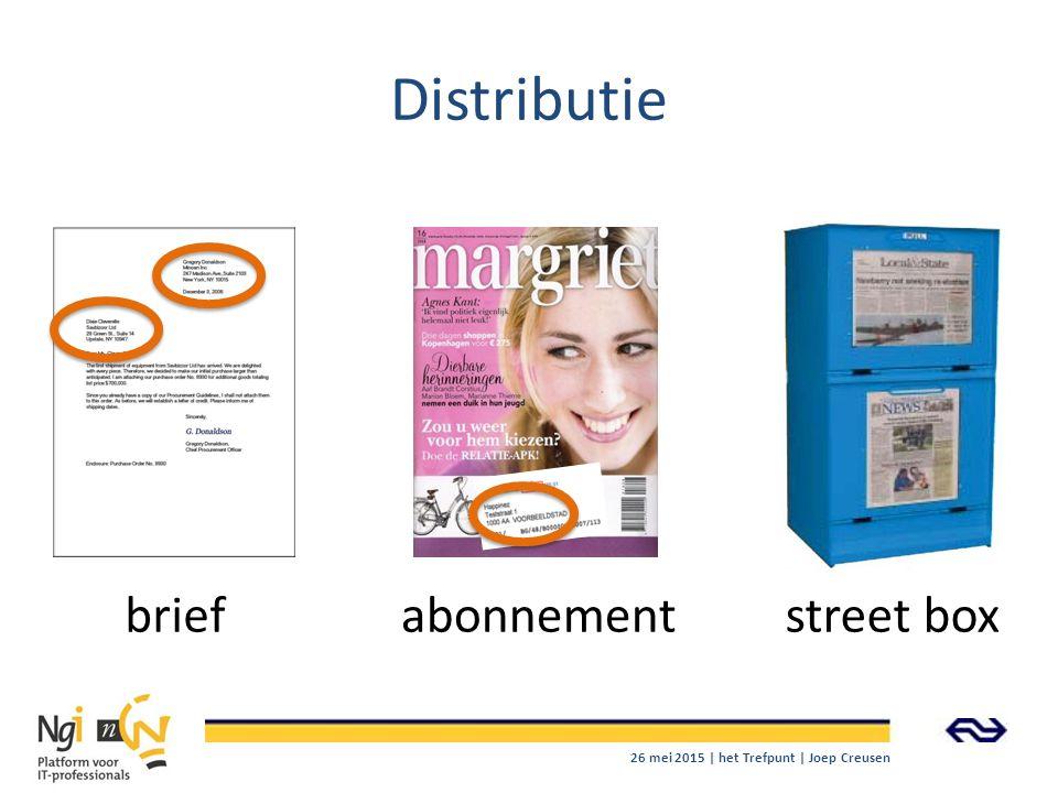 Distributie briefabonnementstreet box 26 mei 2015 | het Trefpunt | Joep Creusen