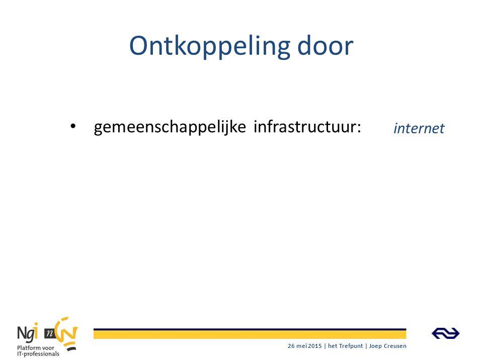 Ontkoppeling door gemeenschappelijke infrastructuur: internet 26 mei 2015 | het Trefpunt | Joep Creusen