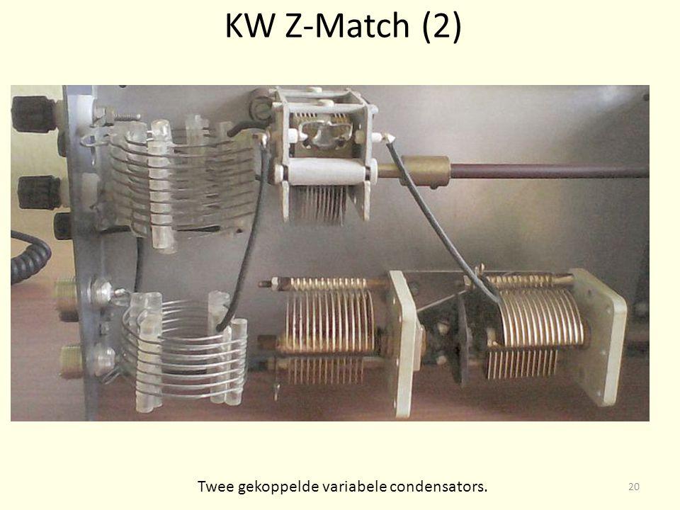 KW Z-Match (2) Twee gekoppelde variabele condensators. 20