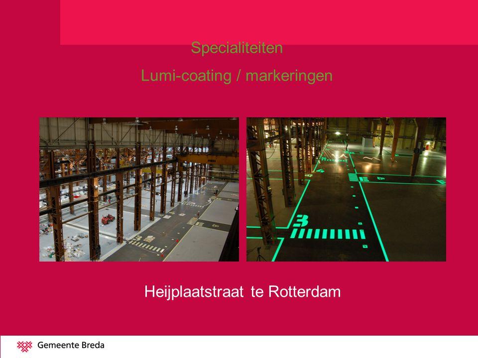 Heijplaatstraat te Rotterdam Specialiteiten Lumi-coating / markeringen