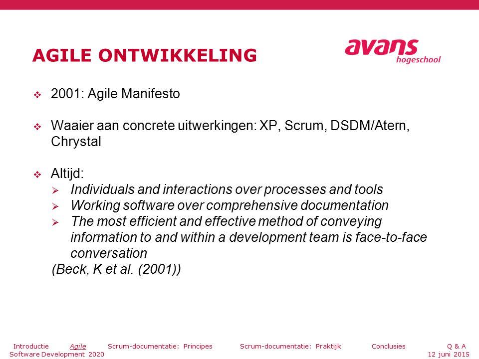 BRONNEN Beck, K et al.(2001). Agile Manifesto.