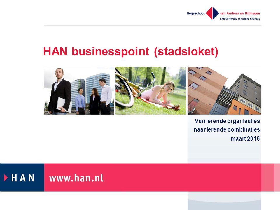 HAN businesspoint (stadsloket) Van lerende organisaties naar lerende combinaties maart 2015
