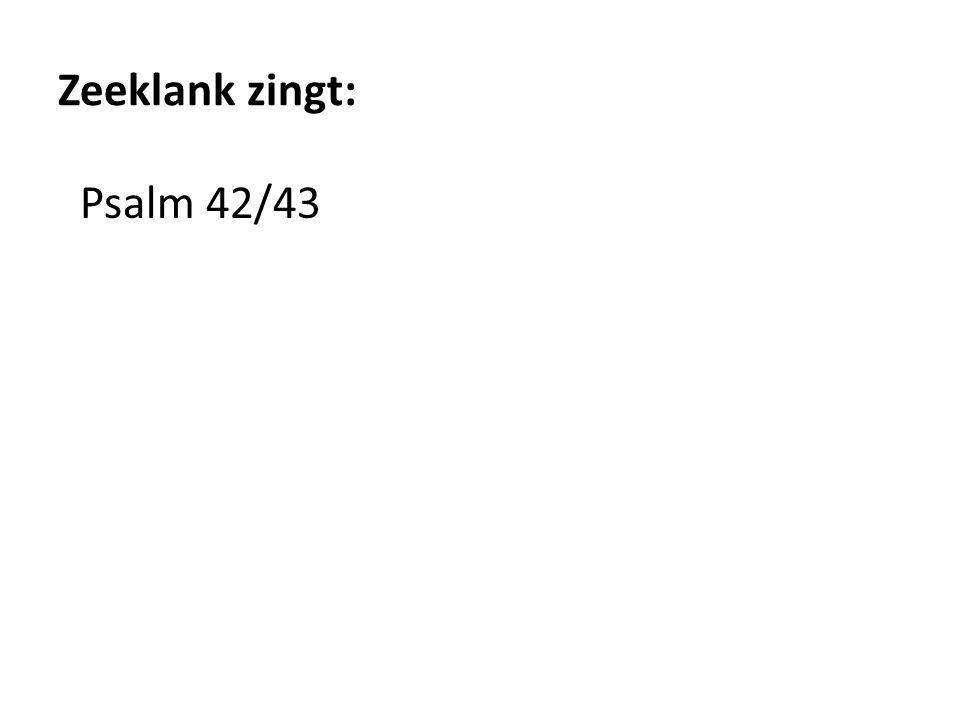 Zeeklank zingt: Psalm 42/43