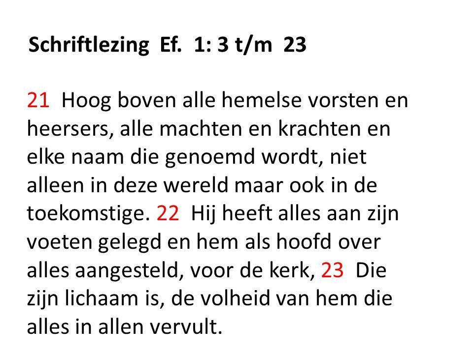 Schriftlezing Ef.
