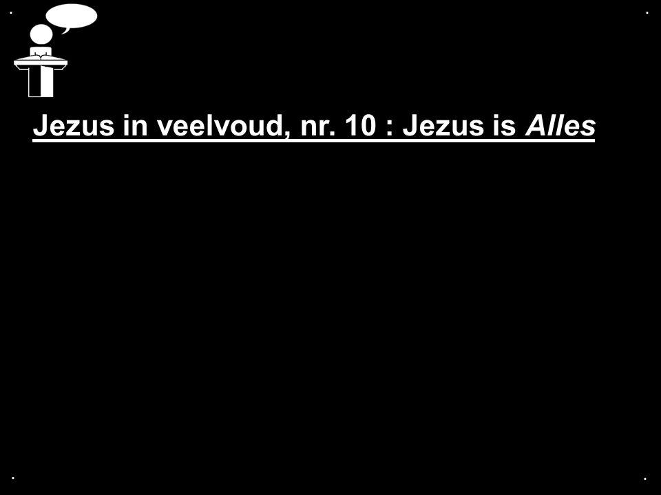 .... Jezus in veelvoud, nr. 10 : Jezus is Alles