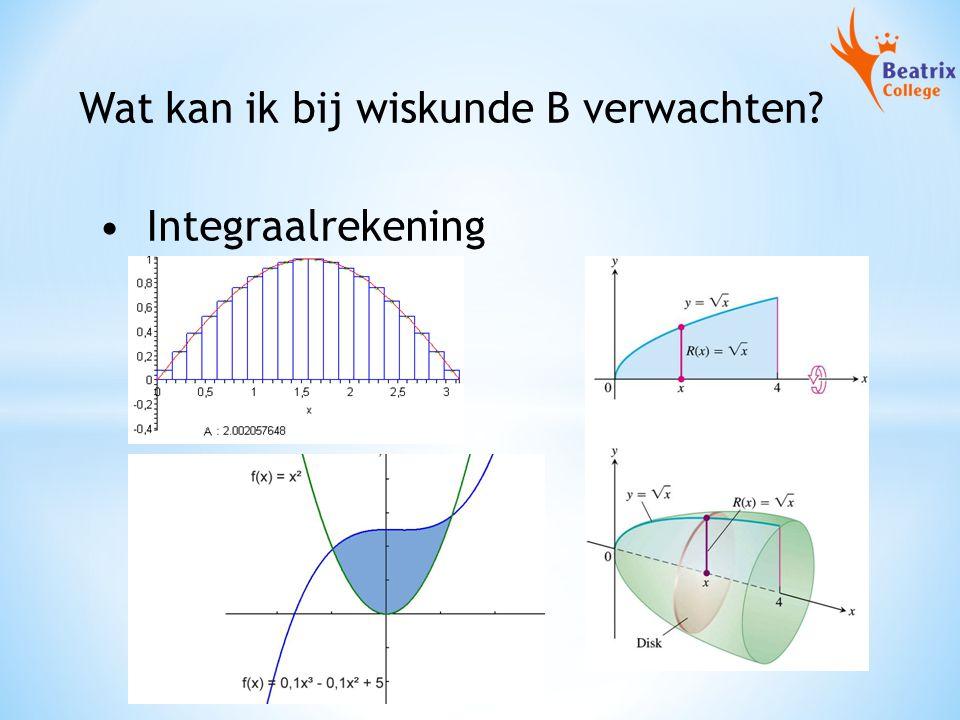 Wat kan ik bij wiskunde B verwachten? Integraalrekening