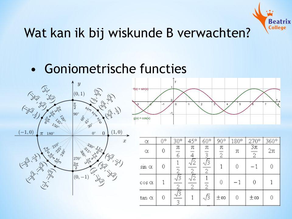 Wat kan ik bij wiskunde B verwachten? Goniometrische functies