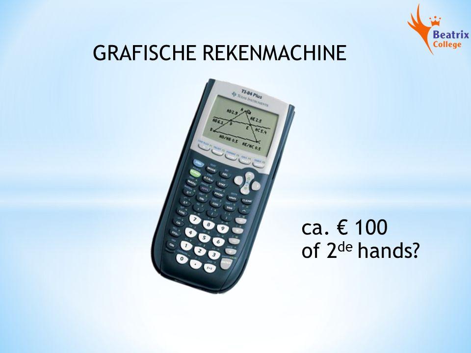 GRAFISCHE REKENMACHINE ca. € 100 of 2 de hands?