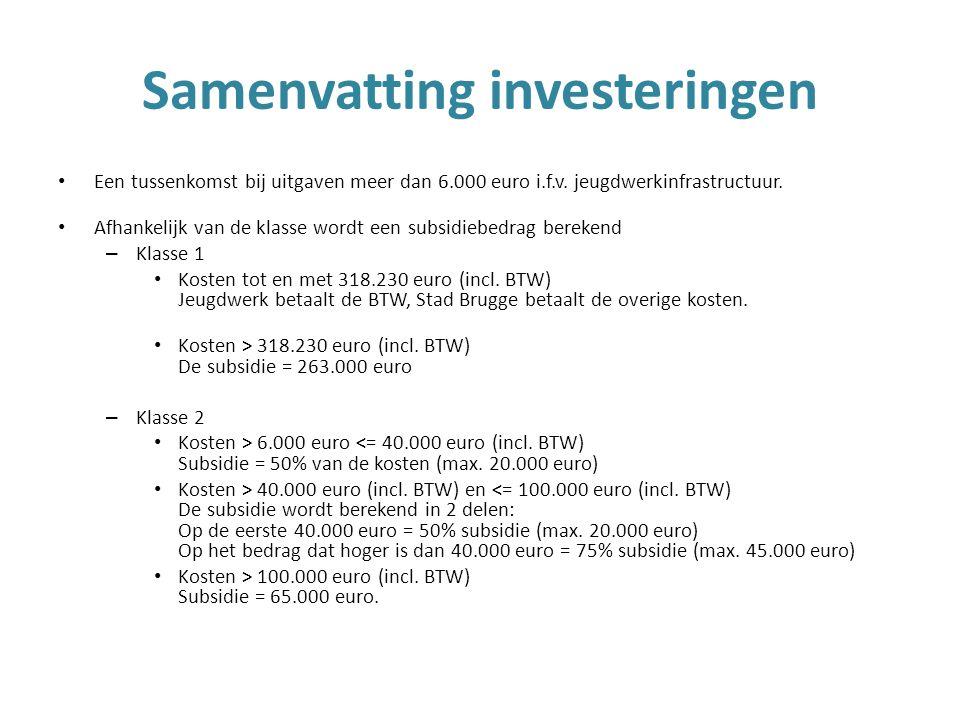Een tussenkomst bij uitgaven meer dan 6.000 euro i.f.v.