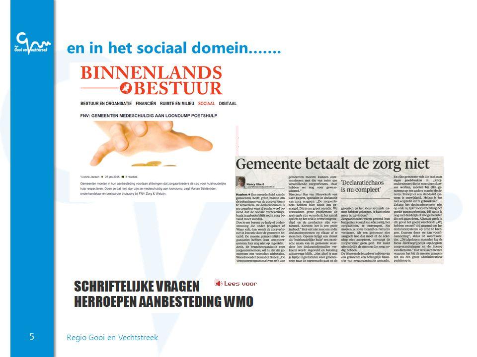 5 Regio Gooi en Vechtstreek en in het sociaal domein…….