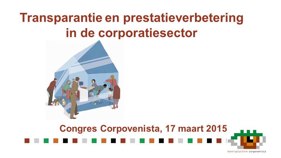 Transparantie en prestatieverbetering in de corporatiesector Congres Corpovenista, 17 maart 2015
