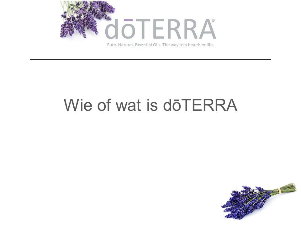 Wie of wat is dōTERRA