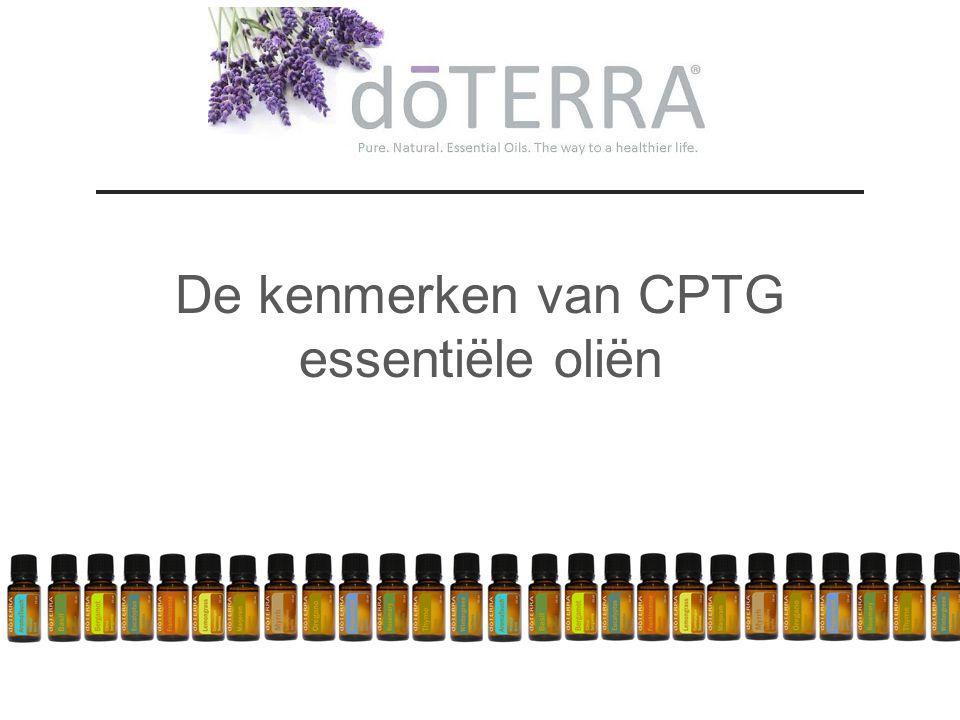 De kenmerken van CPTG essentiële oliën