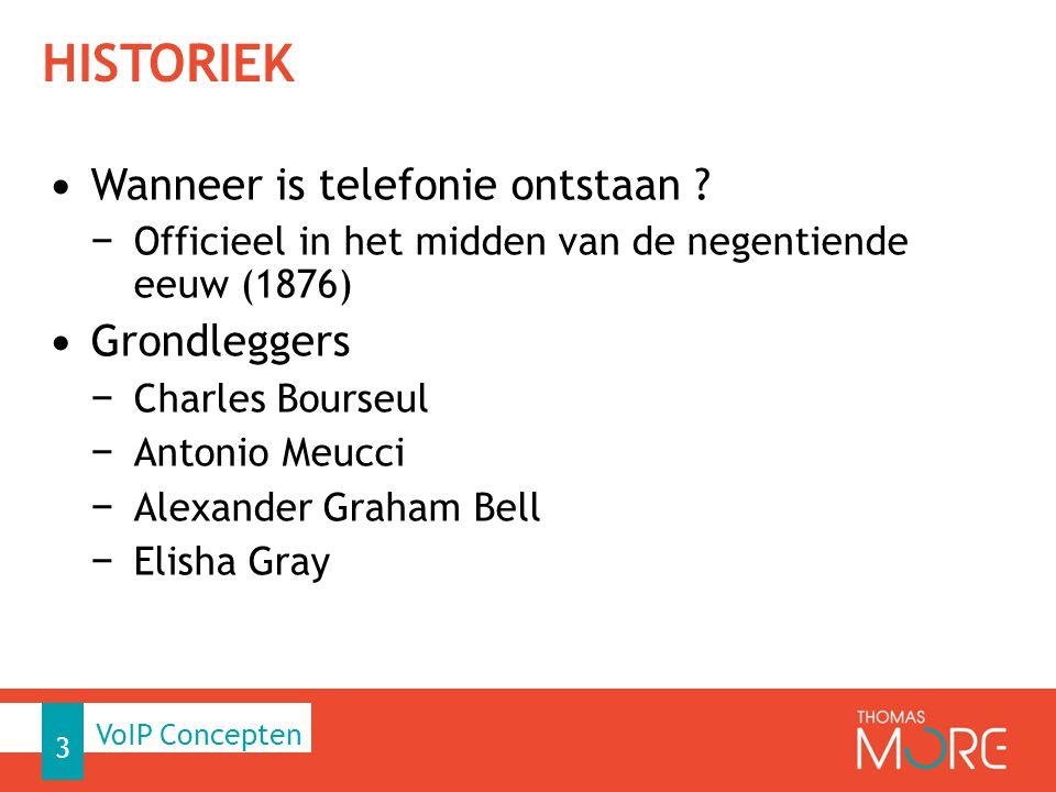 HISTORIEK Wanneer is telefonie ontstaan ? − Officieel in het midden van de negentiende eeuw (1876) Grondleggers − Charles Bourseul − Antonio Meucci −