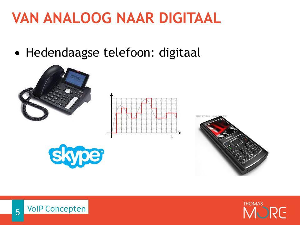 UNIFIED CALL MANAGEMENT Technologiën, die vandaag digitale gegevensoverdracht gebruiken: − Computernetwerken − Telefoonnetwerken − Digitale televisie Voorheen: voor ieder een apart medium 6 VoIP Concepten