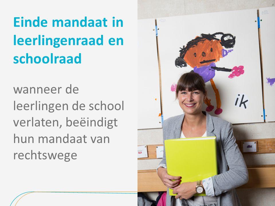 Einde mandaat in leerlingenraad en schoolraad wanneer de leerlingen de school verlaten, beëindigt hun mandaat van rechtswege