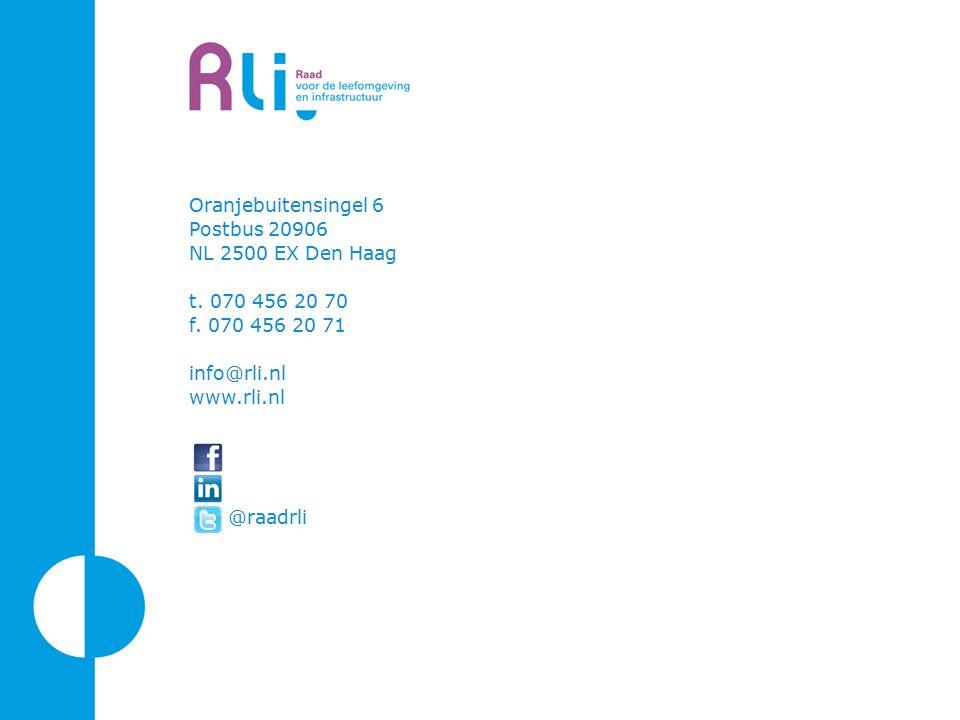 Oranjebuitensingel 6 Postbus 20906 NL 2500 EX Den Haag t. 070 456 20 70 f. 070 456 20 71 info@rli.nl www.rli.nl @raadrli