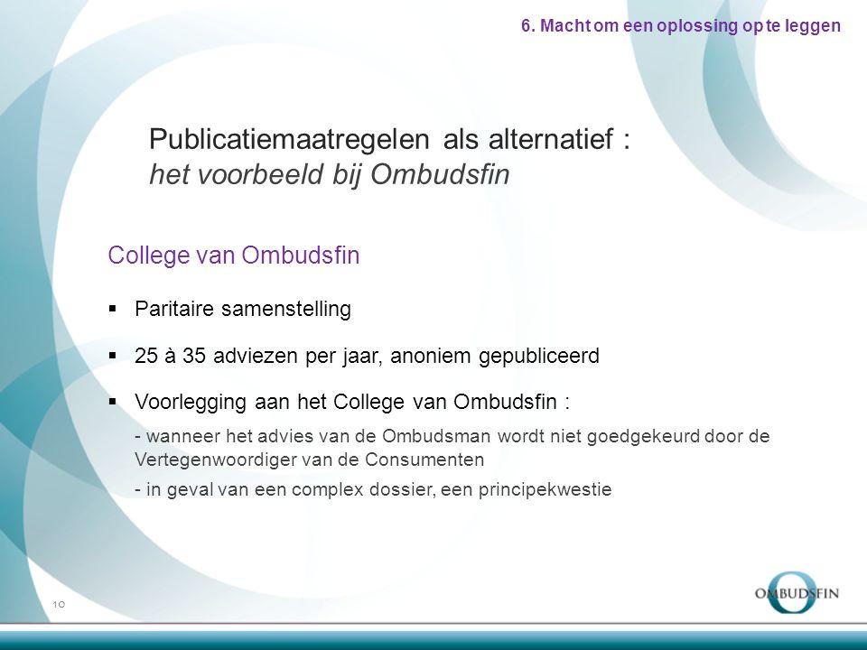 College van Ombudsfin 10 6.