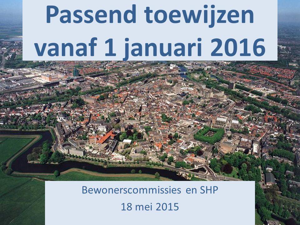 Passend toewijzen vanaf 1 januari 2016 Bewonerscommissies en SHP 18 mei 2015