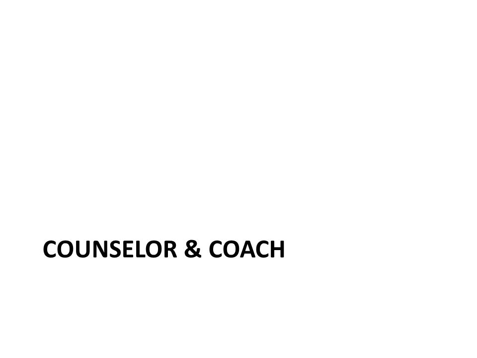 COUNSELOR & COACH