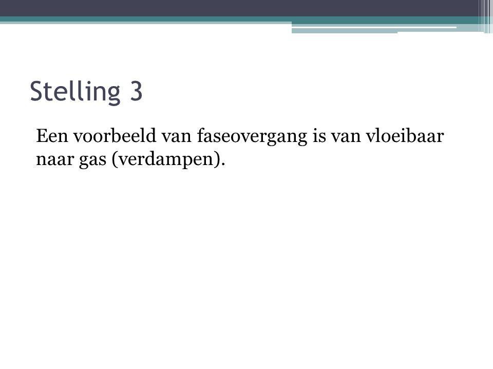Stelling 2 C is koolstof