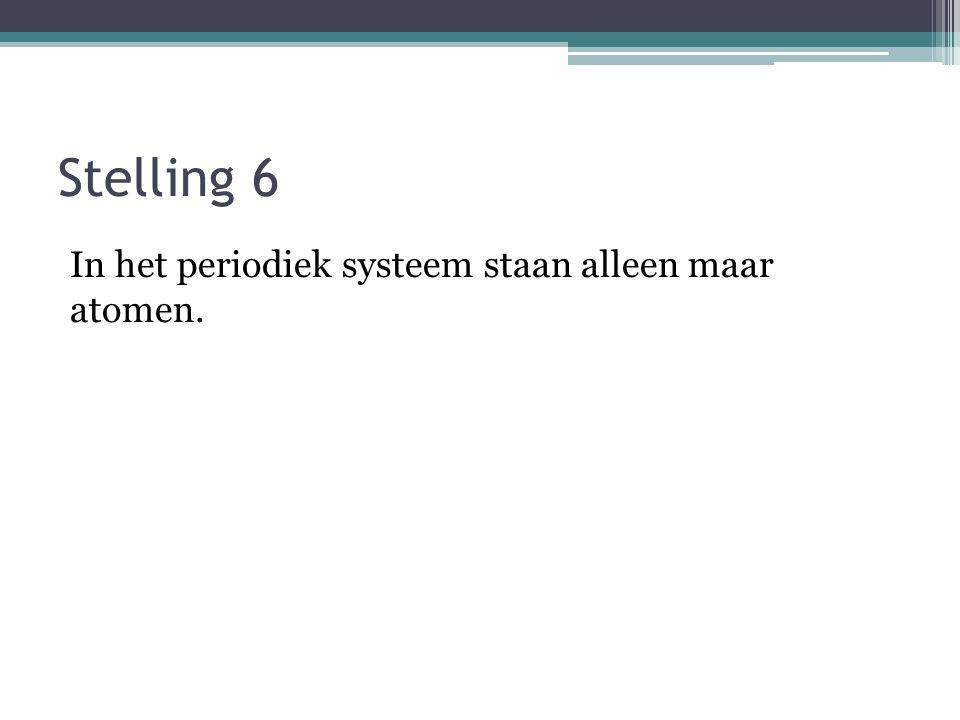 Stelling 5 Waterdamp is een element.