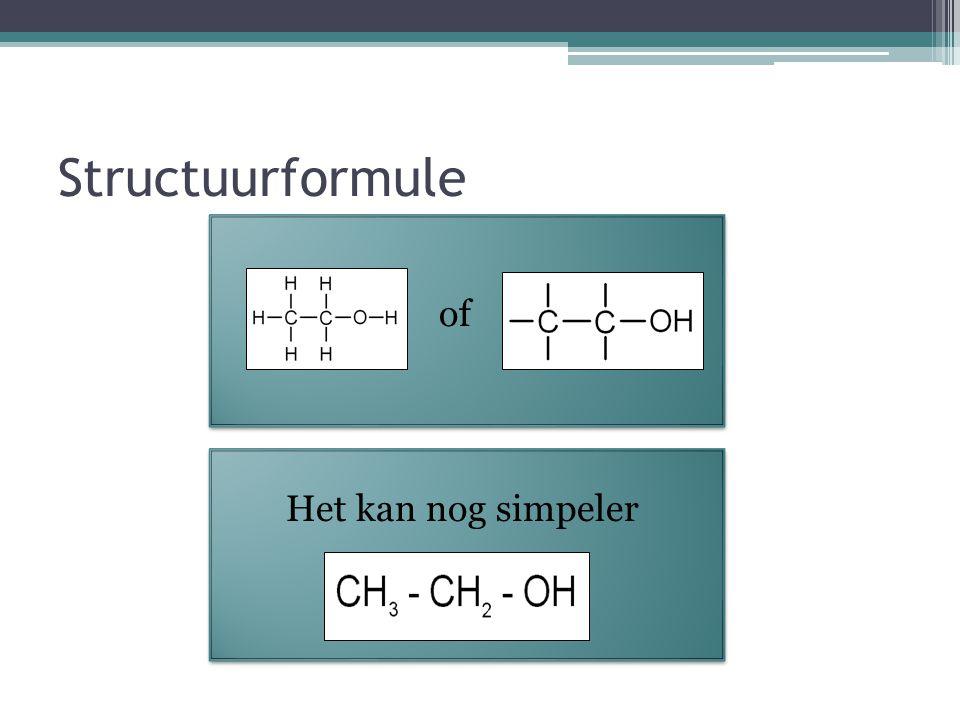 Structuurformule of Ruimtelijke structuur Structuur- tekening